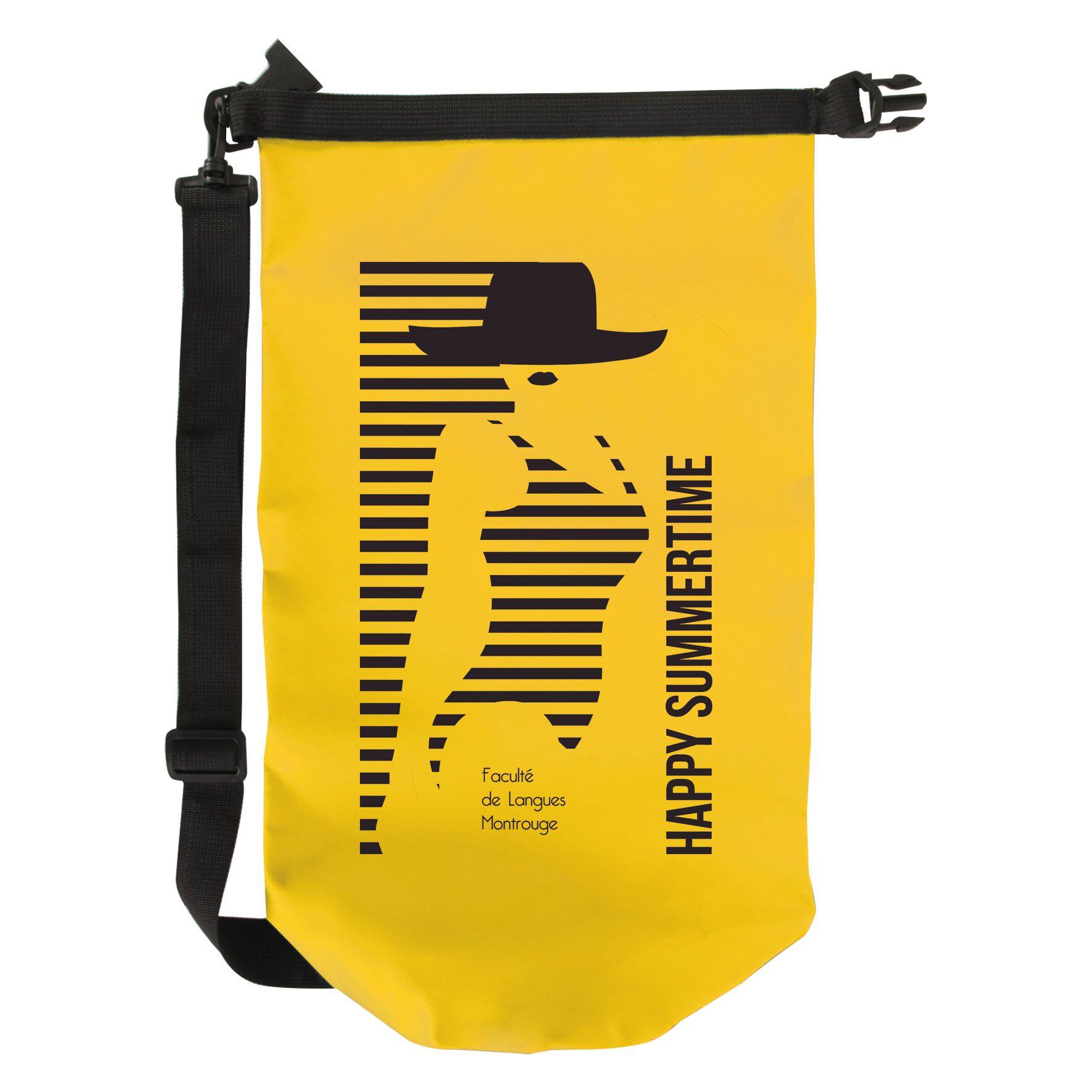 Cadeau publicitaire - Sac de marin publicitaire étanche Sète - jaune