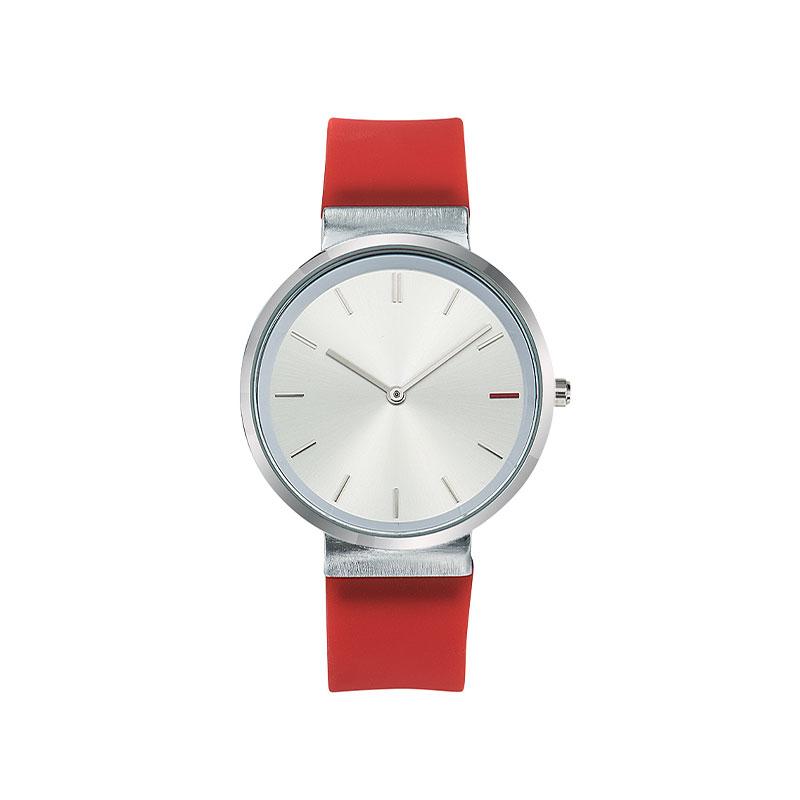 Montre publicitaire Slide avec bracelet rouge