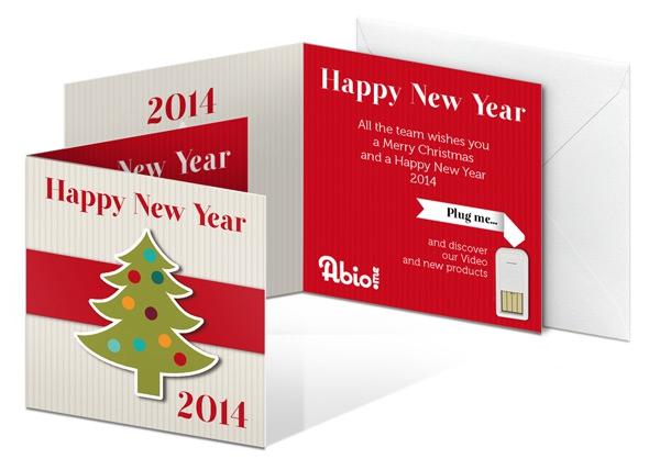 Clé USB publicitaire prête-à-coller - Cadeau d'entreprise de fin d'année