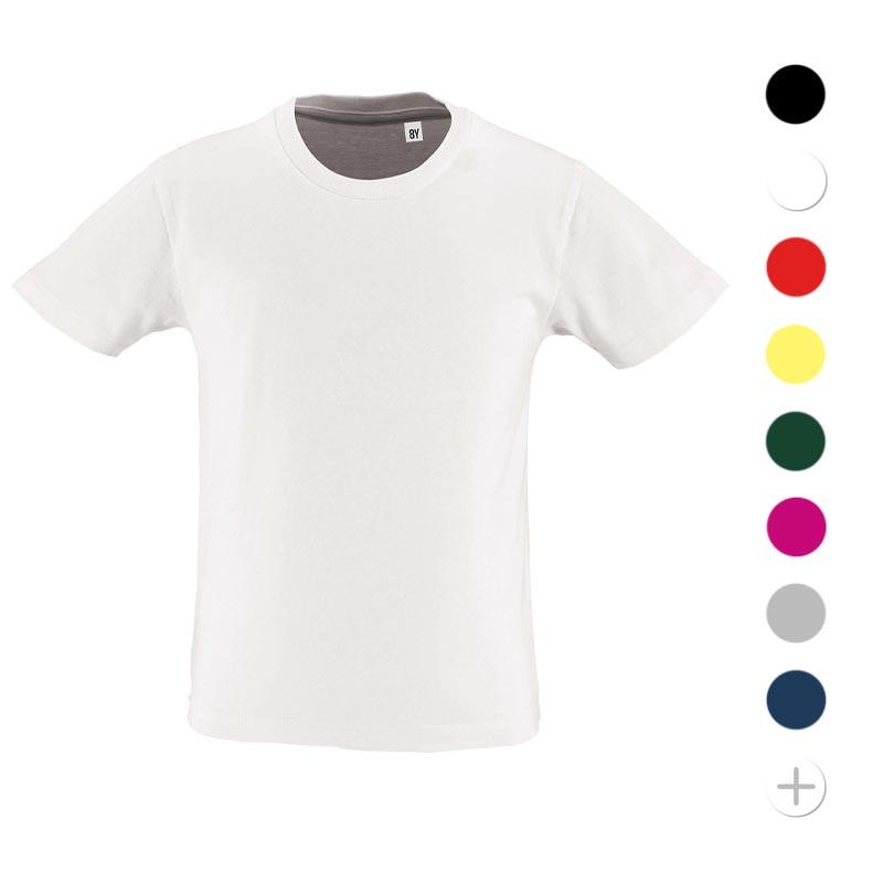 tee-shirt personnalisé enfant en coton bio Milo - coloris