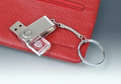 Clé USB publicitaire Cristal Galimard - cadeau d'entreprise
