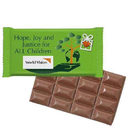 Tablette de chocolat publicitaire Super Maxi
