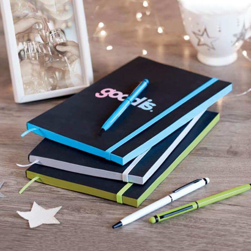 Cadeau d'entreprise - Carnet A5 en papier Black Note