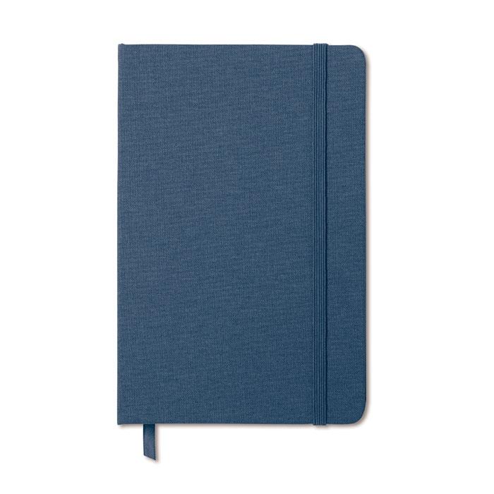 Carnet publicitaire A5 couverture tissu - bleu