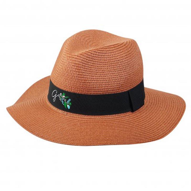 Chapeau de paille personnalisé Fedora