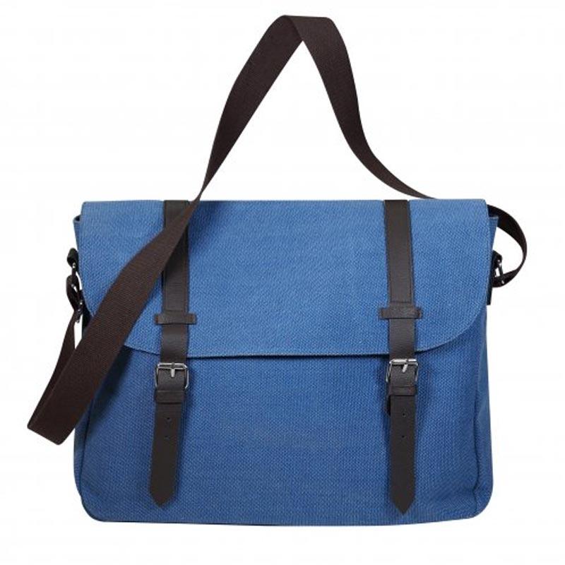 Besace personnalisée pour ordinateur URBANTOOL - sacoche publicitaire en coton orange