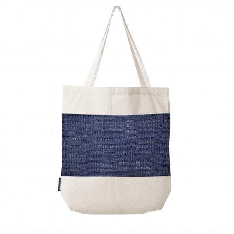 tote bag personnalisé en filet marcel - coloris bleu