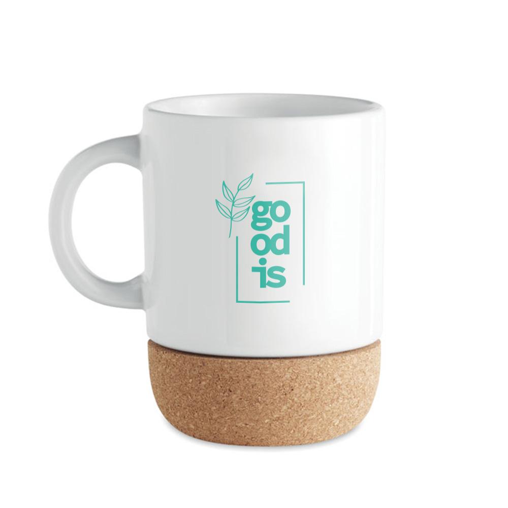 mug publicitaire avec fond en liège Subcork 2