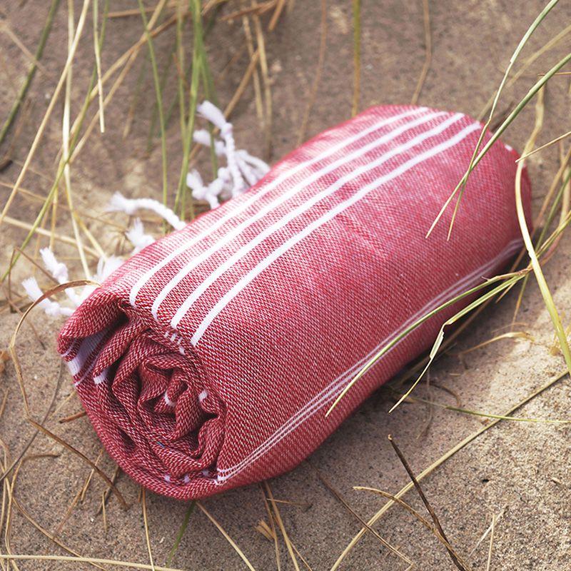 Serviette de plage personnalisée - Fouta personnalisable Hamsultan - rose