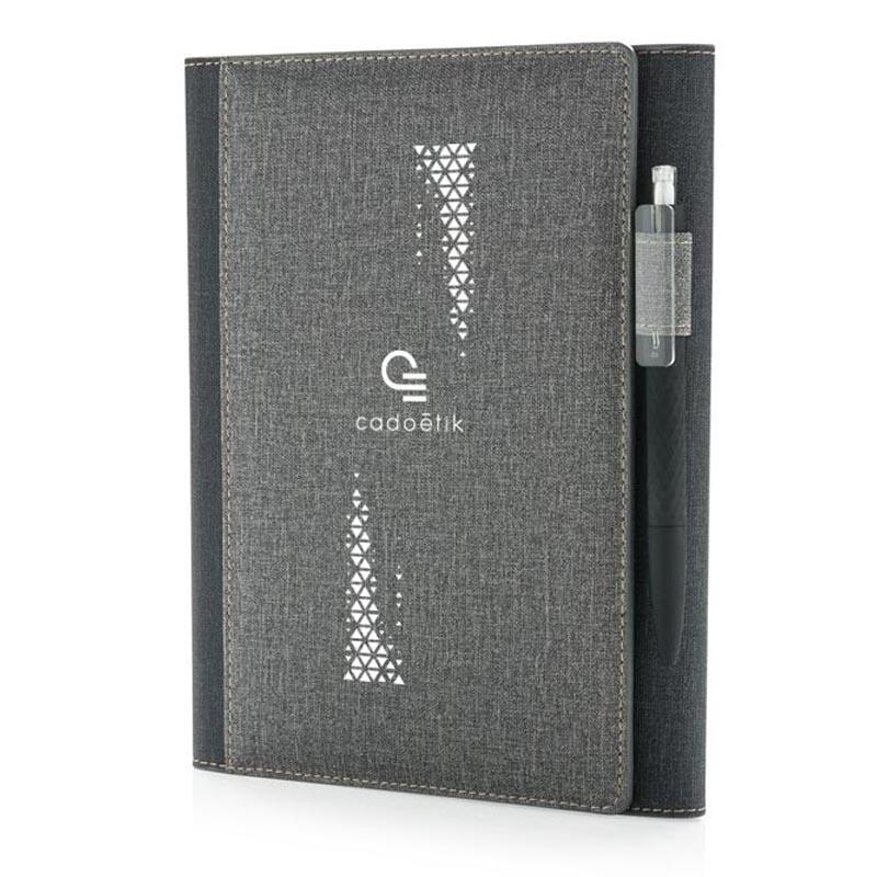 carnet personnalisable A5 et housse Deluxe - cadeau publicitaire