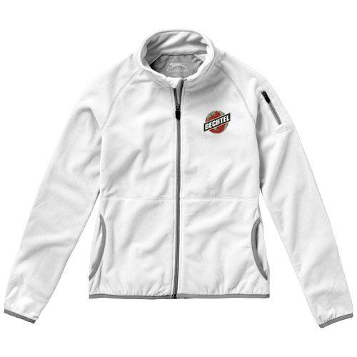 Veste publicitaire femme Drop  - veste polaire personnalisable blanc