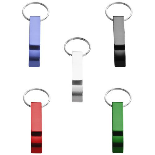 Porte-clés publicitaire - Porte-clés publicitaire ouvre-bouteille et canette Tao