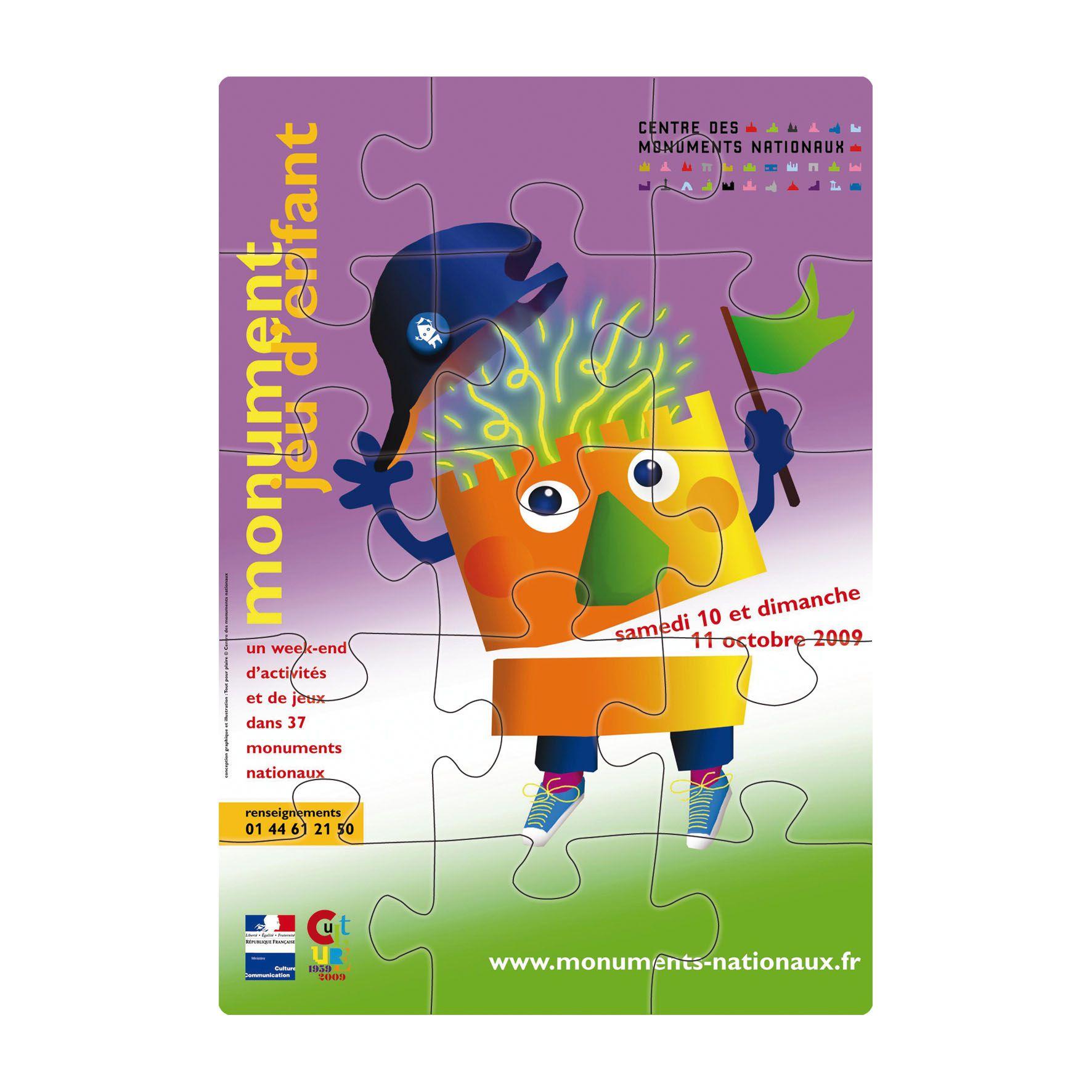 Cadeau publicitaire - Puzzle personnalisable Magnétique 10 X 14,35 cm Tanagrame