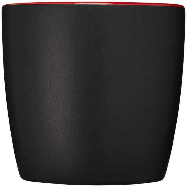 Mug personnalisé Riviera noir et rouge