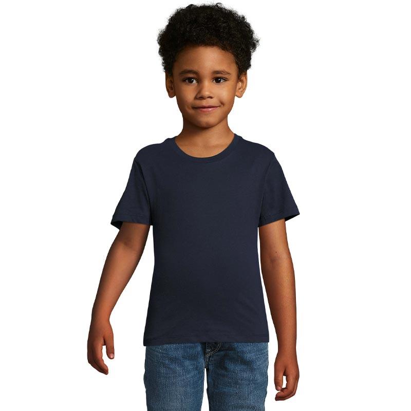 tee-shirt publicitaire enfant en coton bio Milo - coloris bleu
