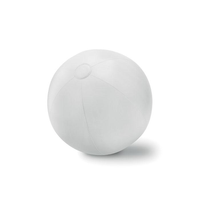 Objet publicitaire - Ballon plage gonflable en PVC Play - jaune