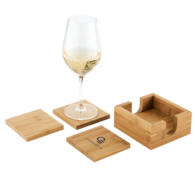 Set de 4 sous-verres personnalisable Apéro - Goodies écologique
