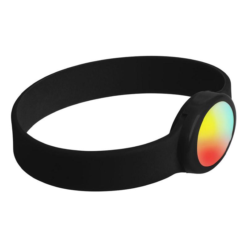 Bracelet publicitaire en silicone à Led Tico - noir
