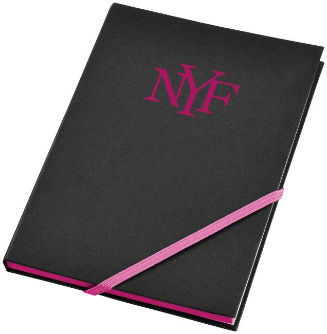 Bloc-notes publicitaire Travers néon pink
