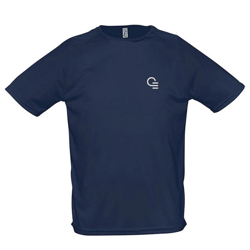 T-shirt publicitaire respirant homme Sporty 140 g - Coloris bleu