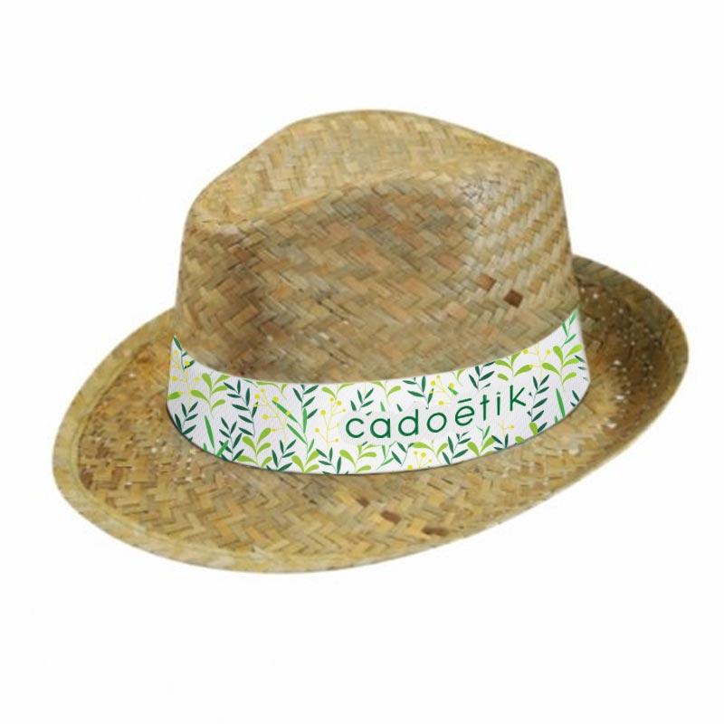 Chapeau de paille personnalisé Doulos
