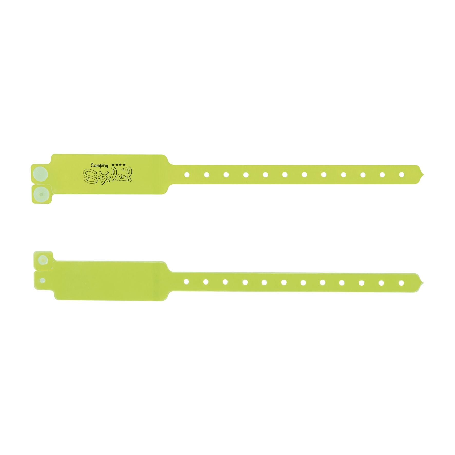 Goodies évènementiel - Bracelet publicitaire inviolable Security - blanc