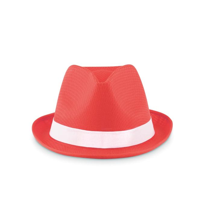 Chapeau personnalisé Woogie - Chapeau publicitaire coloré blanc