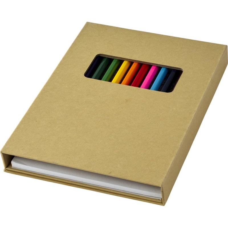 Set de coloriage Pabloc - crayons de couleur publicitaires