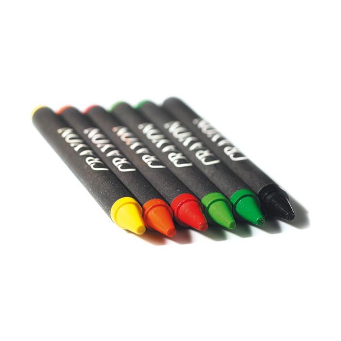 Etui de 6 crayons cire - Objet publicitaire