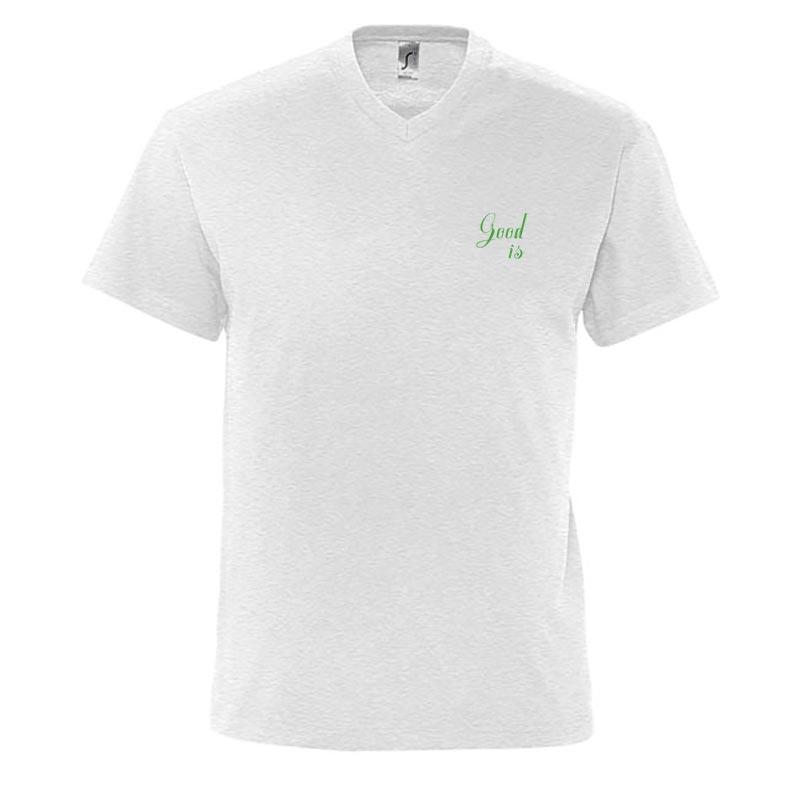 T-shirt publicitaire homme en coton V Victory