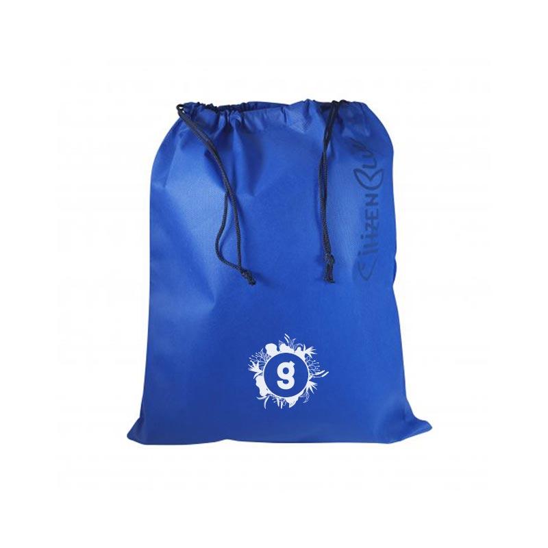 sac de plage publicitaire écologique citizen blue - pochette de rangement