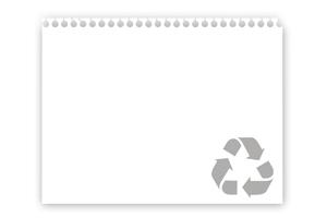 matière papier recyclé cadoetik