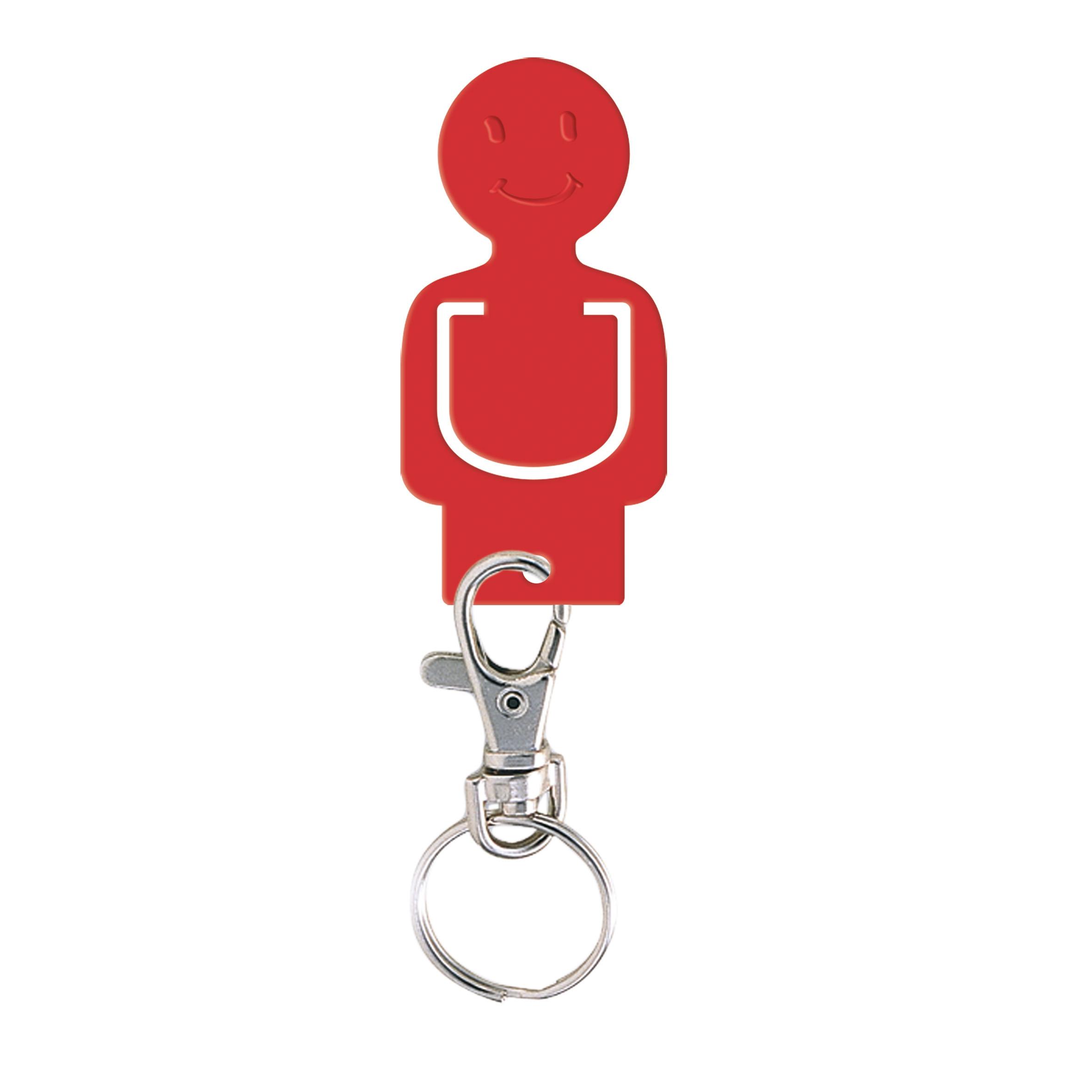 Porte-clés personnalisable jeton caddie Figurine - Goodies salon - noir