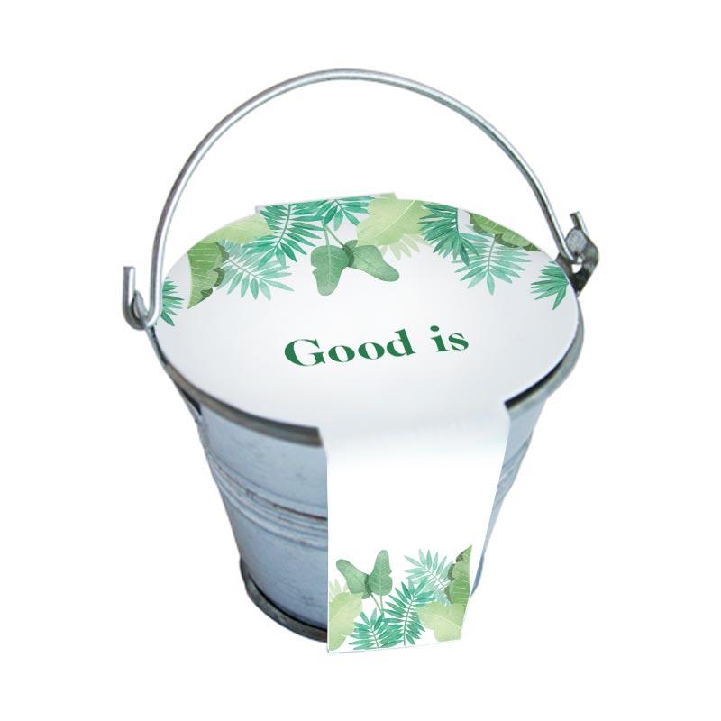 Kit de semis mini pot zinc 6cm - graines publicitaires