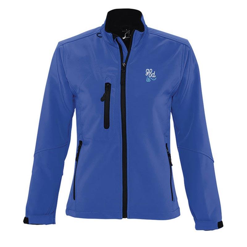 Veste softshell zippée publicitaire Roxy - Coloris bleu