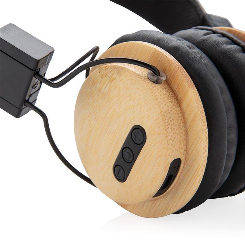 Cadeau promotionnel BtoB - Casque audio sans fil en bambou Liberwood