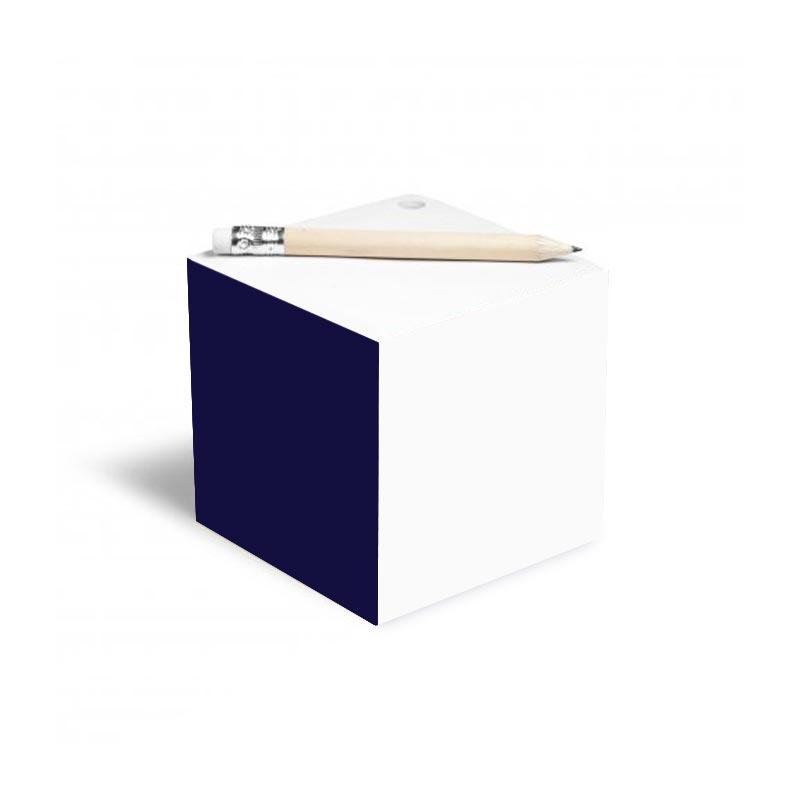 Bloc-notes cube et crayon à papier