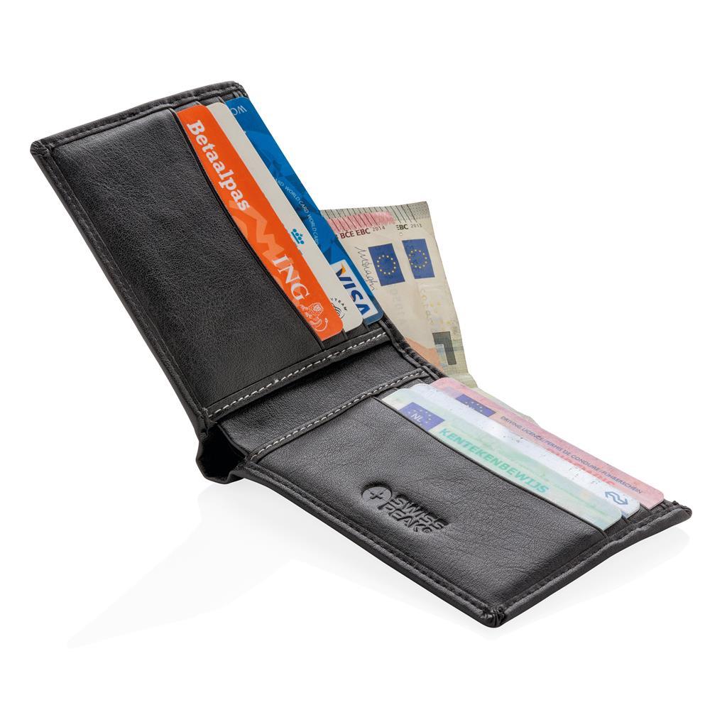 Cadeau entreprise client - Portefeuille personnalisable RFID Swiss Peak
