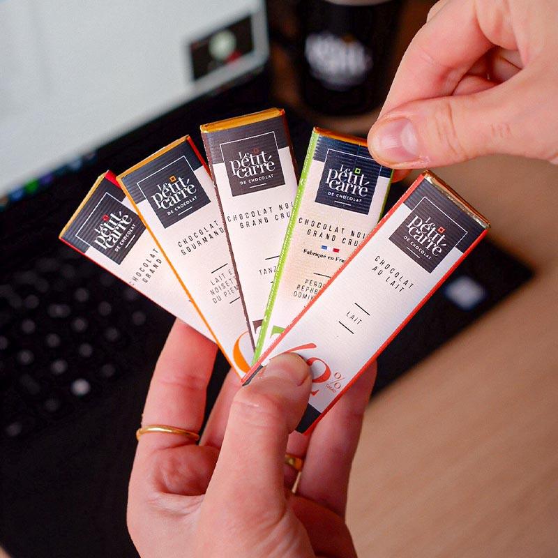 Présentation des barres chocolatées bio