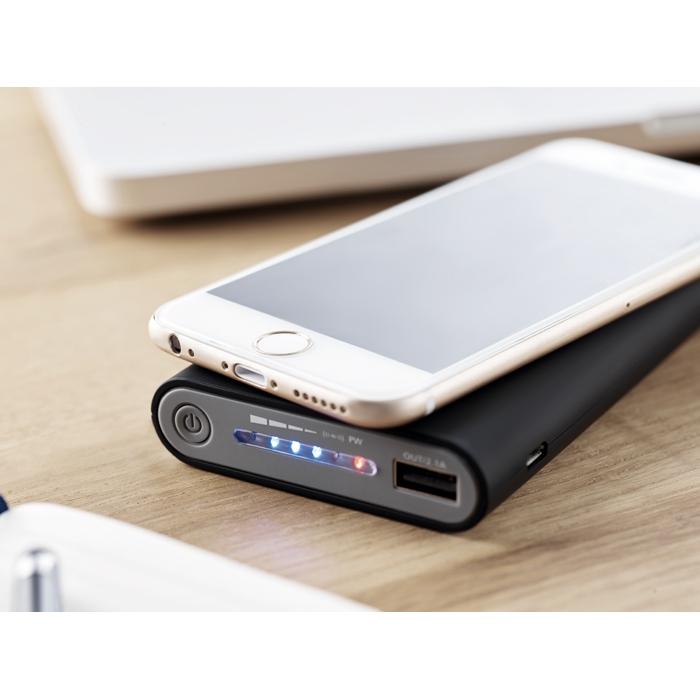 Chargeur publicitaire à induction - Batterie de secours publicitaire à induction 8000 mAh Vigor
