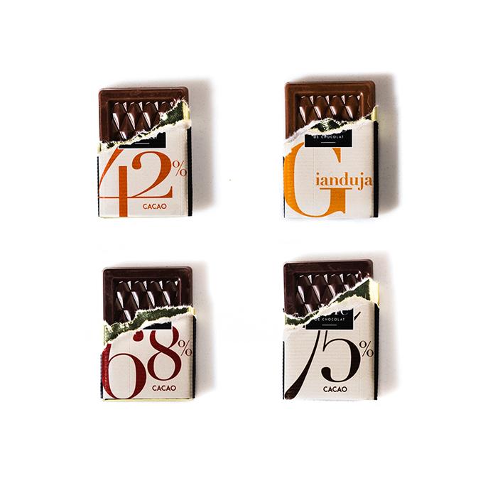 Chocolat publicitaire 4 saveurs