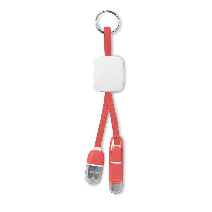 objet publicitaire - Porte-clés publicitaire USB type C Key Ring C - blanc
