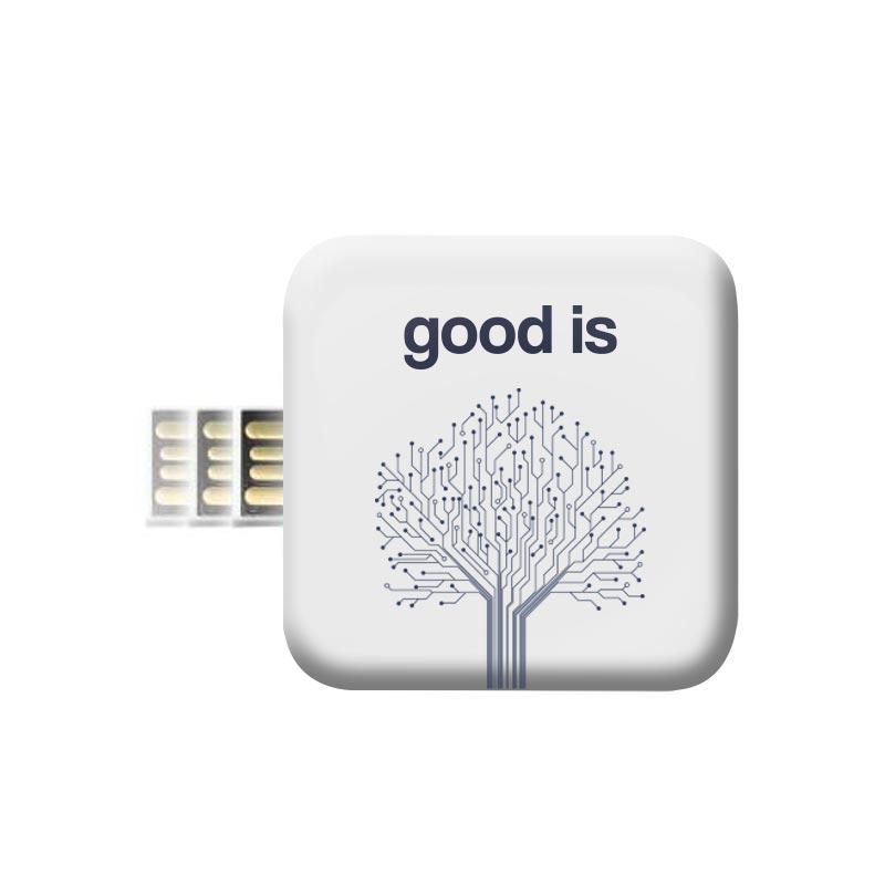 Clé USB publicitaire Shape Push&Pull - Goodies innovant