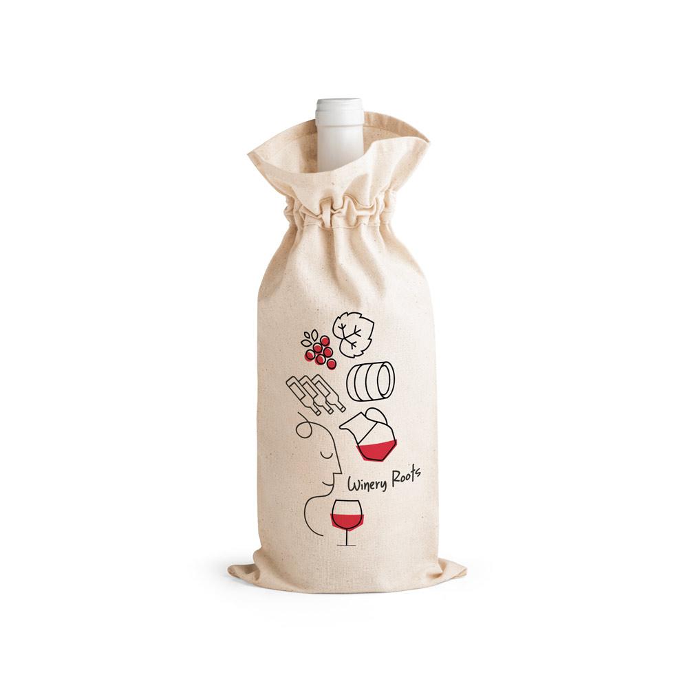 Sac bouteille publicitaire en coton Jerome 2