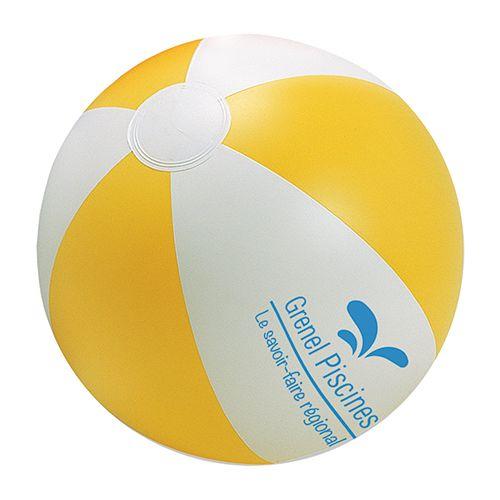 goodies plage - ballon de plage personnalisé Rio jaune