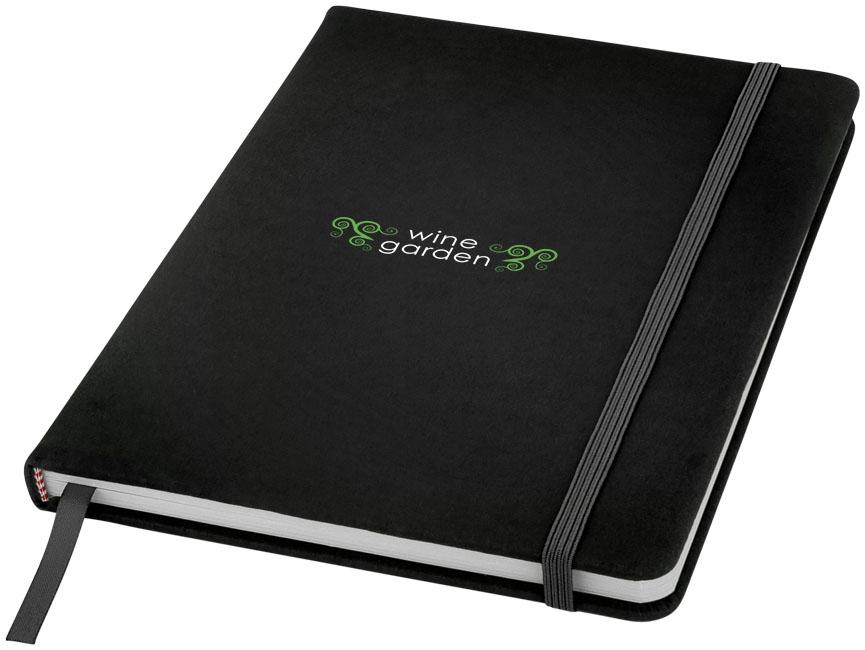 Carnet de notes personnalisé A5 Spectrum avec pages blanches noir