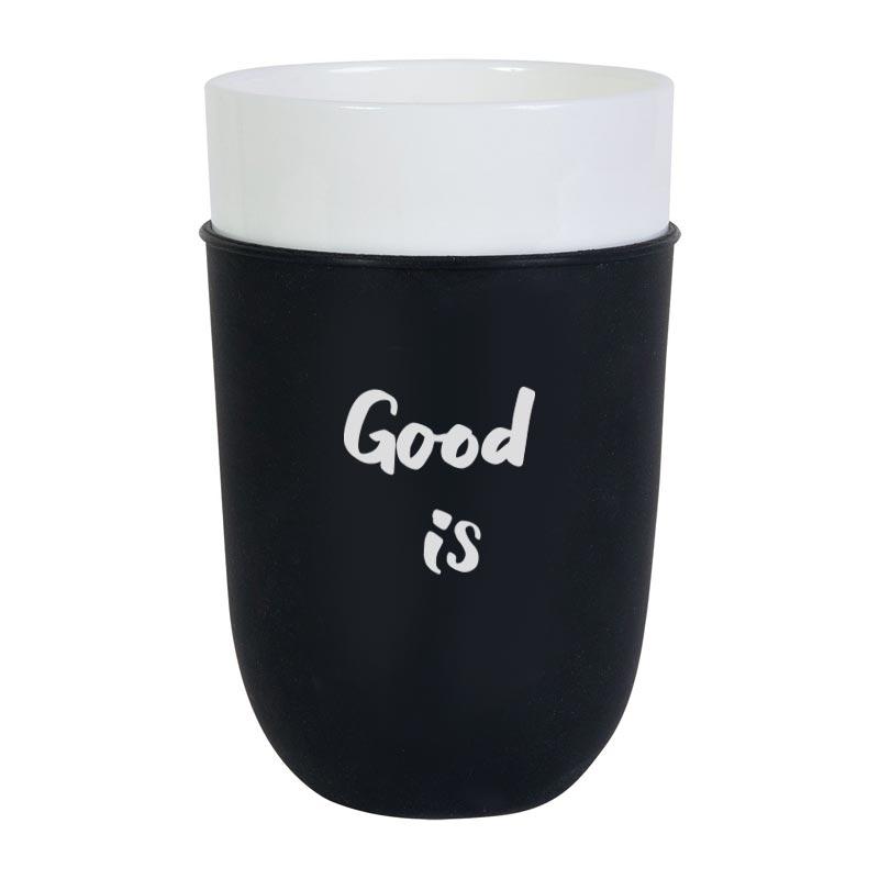 Mug publicitaire Zipper 38 cl - Mug personnalisable - noir