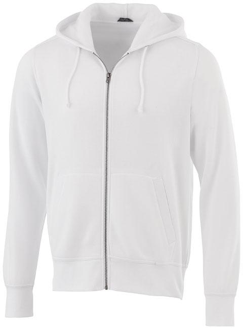 Sweater publicitaire à capuche full zip Cypress blanc