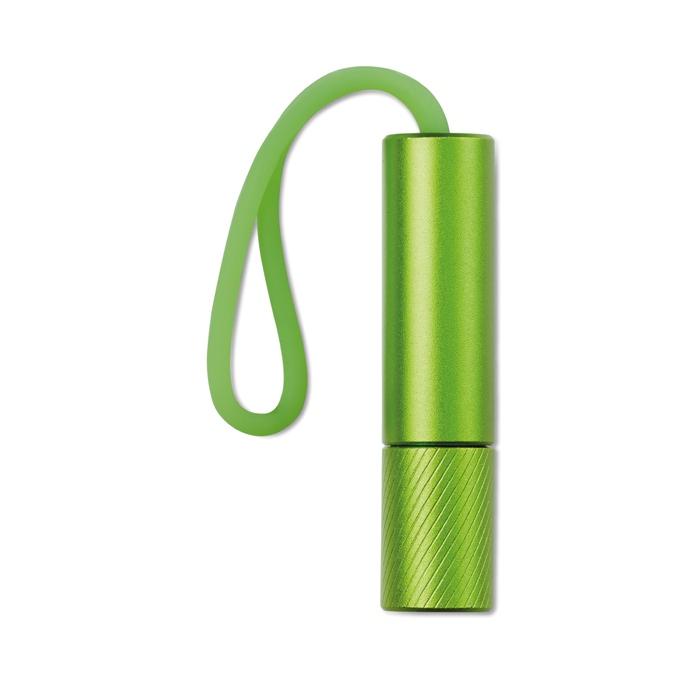 Goodies - Lampe de poche publicitaire Mini Glow avec lanière phosphorescente