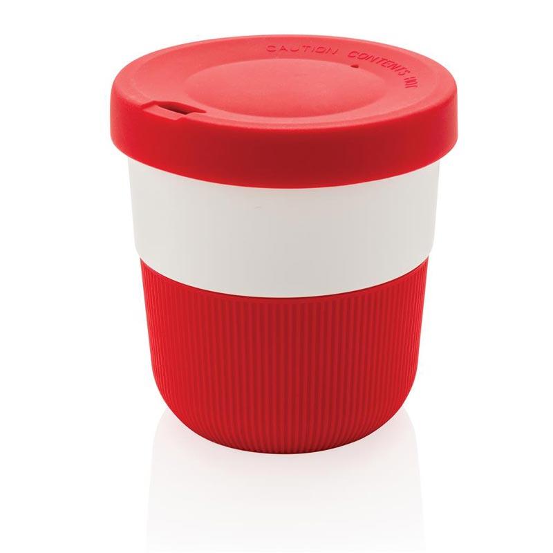 Mug de voyage publicitaire Ryoko en PLA - coloris rouge